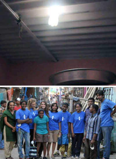 Lighting up homes with PET bottles