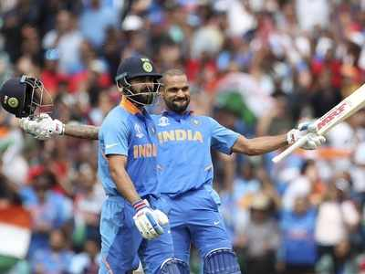 World Cup, India vs Australia: Shikhar Dhawan, Virat Kohli power India to 352/5