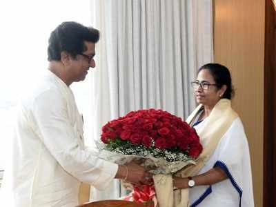Raj Thackeray meets Mamata Banerjee; invites her for anti-EVM rally in Mumbai