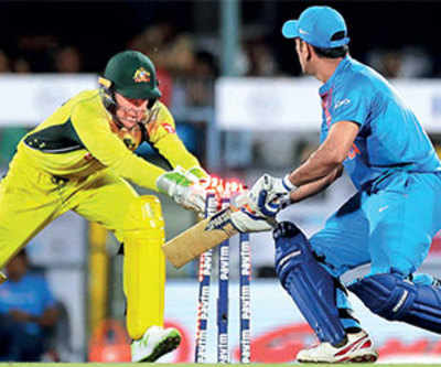 Aus level T20 series with India