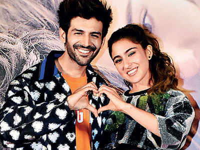 It's all about love for Sara Ali Khan and Kartik Aaryan