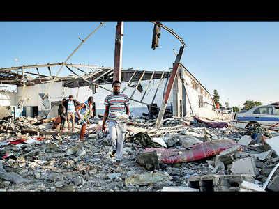 44 die in air strike on Libyan migrant centre