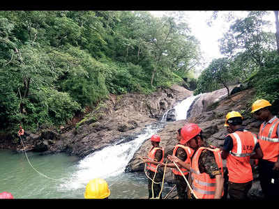 Get-together turns tragic as one dead, narrow escape for another at waterfall inside Sanjay Gandhi National Park