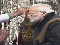 Prime Minister Narendra Modi offers prayers at Kedarnath temple