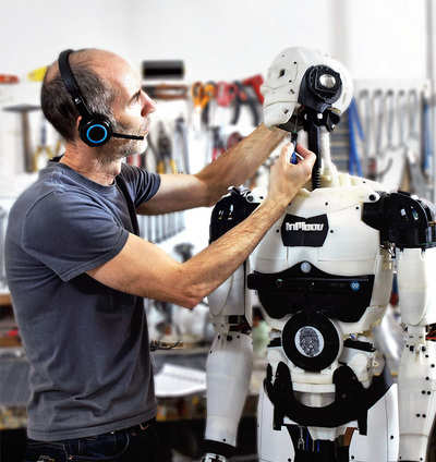 The robot man