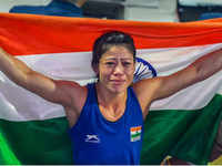 World Boxing Championships: Mary Kom wins gold medal, defeats Ukraine's Hanna Okhota