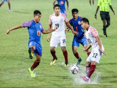 Indian football team escapes Tuesday's downpour in Mumbai