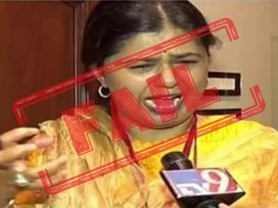 FAKE ALERT: Photo of Pankaja Munde 'crying' not taken after loss in Maharashtra polls