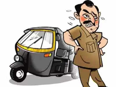 Take off the uniform and see what we'll do to you: Auto guys  tell traffic policeman