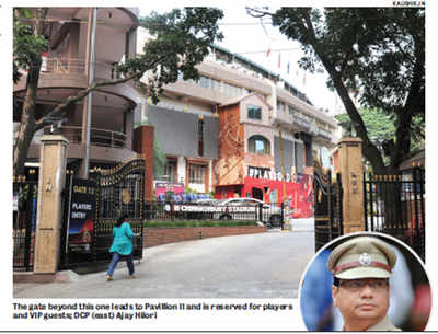 Chinnaswamy Stadium guard faces the strong arm of the law, 4 times