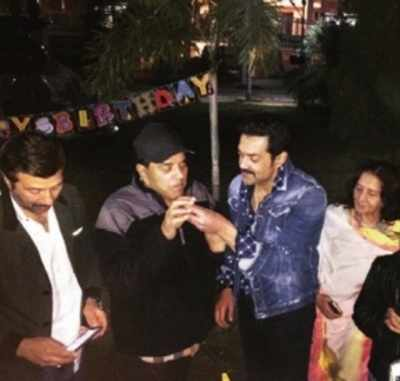 Bobby Deol brings in his 48th birthday with friends and family