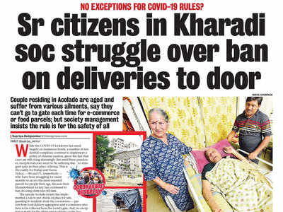 Relief for elderly couple in Kharadi
