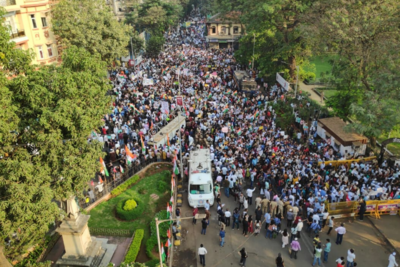 Around 20,000 join anti-CAA protest march at August Kranti Maidan, no untoward incident reported: Mumbai Police