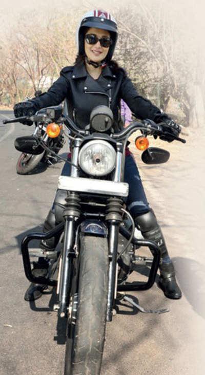 Madhuri Dixit rides a bike for her first Marathi film Bucket List, also starring Renuka Shahane