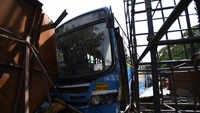 Pune: Bus hits 2 vehicles after brake failure