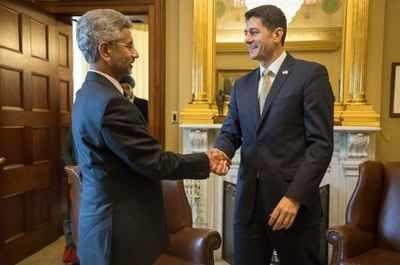 Foreign Secretary S Jaishankar meets Paul Ryan to discuss Indo-US ties