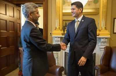 Foreign Secretary S Jaishankar meets Paul Ryan to discuss Indo-US ties