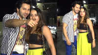 Varun Dhawan and girlfriend Natasha Dalal spotted outside David Dhawan's office