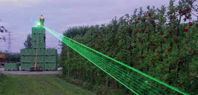 Karnataka: Farmers use lasers to scare monkeys away