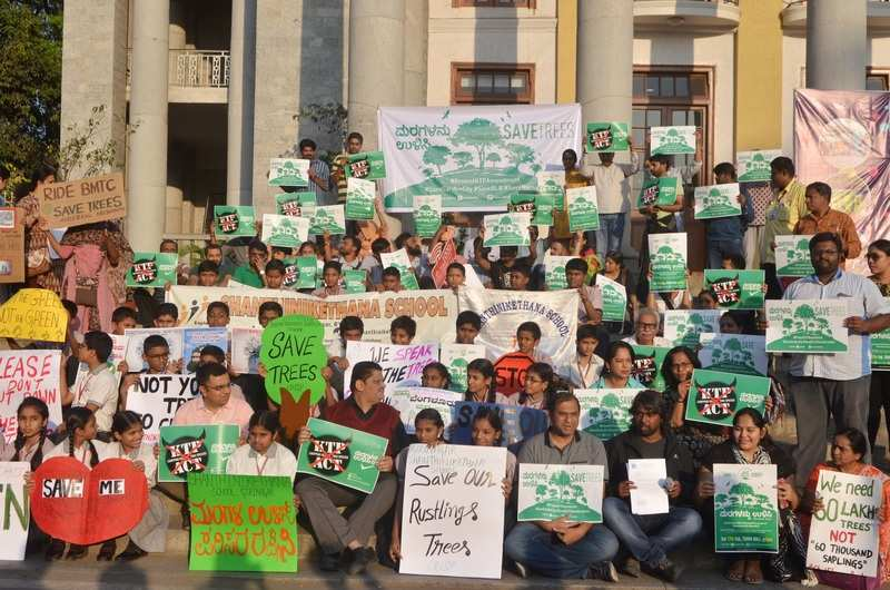 In Pics: Citizens protest the proposed amendment to the Karnataka Preservation of Trees Act