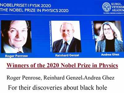 Three share Nobel prize in physics for discoveries about black hole