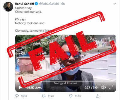FACT CHECK: Rahul Gandhi passes off Congress functionaries as ordinary Ladhakis to slam PM Modi