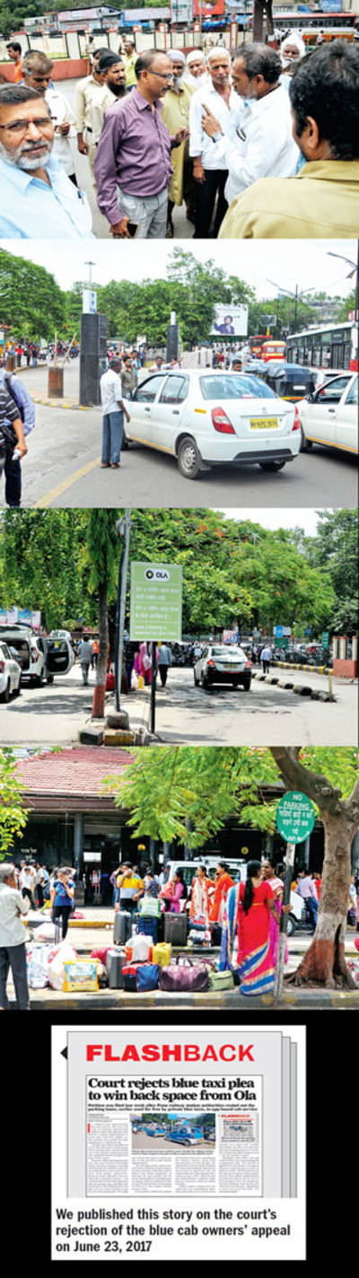 Blue cab owners bar Ola vehicles from rly station