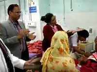 Watch: Delhi health minister Satyendra Jain dances with staff and patients in hospital