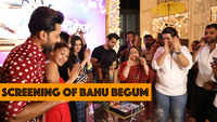Arjit Taneja, Samiksha Jaiswal and others at the screening of Bahu Begum
