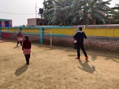 Badminton driving attendance at Sadopur school