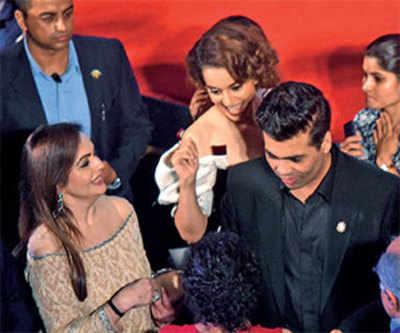 Kangana Ranaut, Karan Johar's face-off