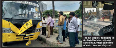 Pedestrian loses life as bus goes haywire