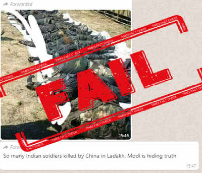 Fake alert: 2015 photo from Nigeria shared as bodies of Indian soldiers killed in Galwan clash