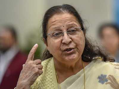 Sumitra Mahajan makes a controversial comment about Hemant Karkare, sparks row