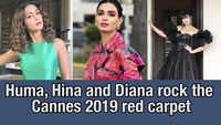 Huma, Hina and Diana rock the Cannes 2019 red carpet