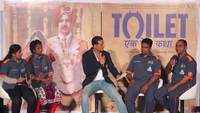 Cast of 'Toilet: Ek Prem Katha' interacts with the media
