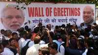 Delhi: Ministers welcome PM Modi with 'Wall of Greetings' at Rajiv Chowk Metro Station