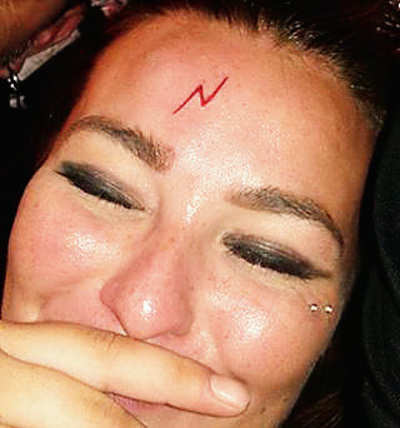 Drunken Fans Get Harry Potter Lightning Bolt Tattoo