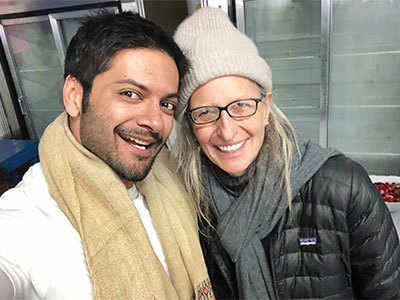 Ali Fazal's picture-perfect moment with iconic American photographer Annie Leibovitz
