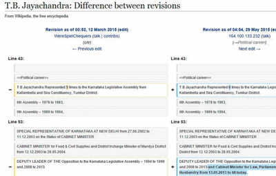 Wikipedia edited from govt offices