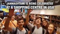 Janmashtami is being celebrated at a shopping centre in USA