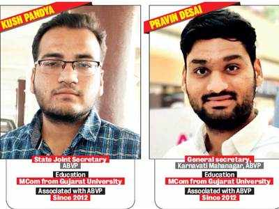 Meet the ABVP men who've kept Guha away from Ahmedabad Univ