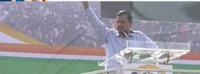 AAP chief Kejriwal speaks at rally, sees need to oust PM Modi and Amit Shah from power