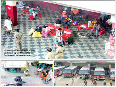 As Bengalureans get ready to board the buses for Deepavali, the risk of covid-19 spreading its tentacles in Karnataka goes up a notch