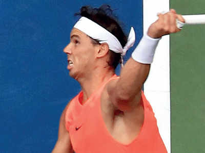 Rafael Nadal made to dig deep