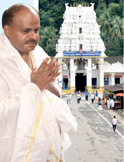 Government work is God's work: In the 100 days that Chief Minister HD Kumaraswamy completes today, he has already visited 50 temples