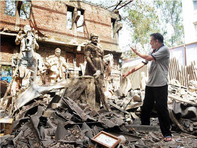 Sculptor's works in pieces after TMC demolishes studio