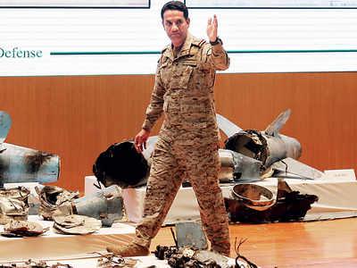 Saudi displays 'proof' of Iran hand in attacks