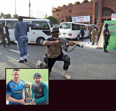 Cricket under guns' shadow: Pakistan gear up to take on World XI