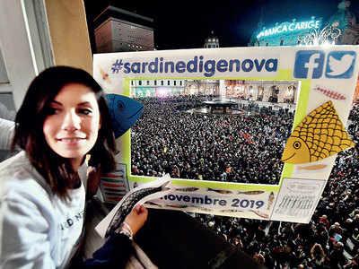 The 'Sardine Movement' protest